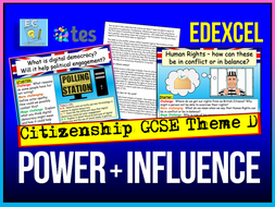 Power and Influence Edexcel Citizenship Theme D
