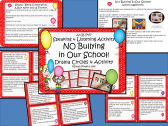 No Bullying in Our School Drama Circle and Activity IB PYP