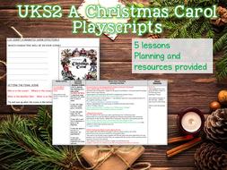 UKS2 A Christmas Carol Playscripts Unit - 5 Lessons