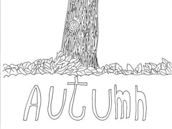 Autumn: Seasons: Colouring Page