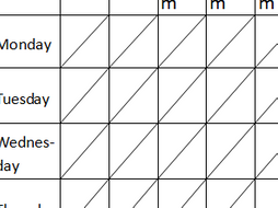 revision timetable template by lilyaaddley teaching resources tes