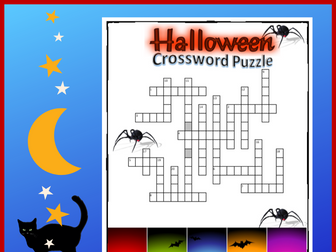 Halloween Crossword Puzzle Editable