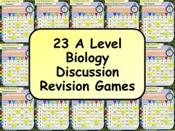 23 A Level Biology Discussion Revision Games