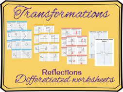 Reflections worksheets (differentiated)