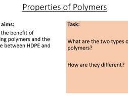 AQA C15.3 Properties of Polymers