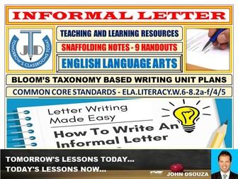INFORMAL LETTER: SCAFFOLDING NOTES