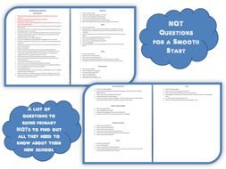 NQT Questions for a Smooth Start