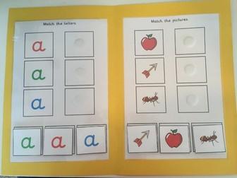 Phonics Alphabet Folder Activity Special Needs