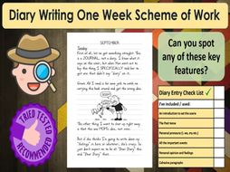 Diary Writing Full Week of Work KS2