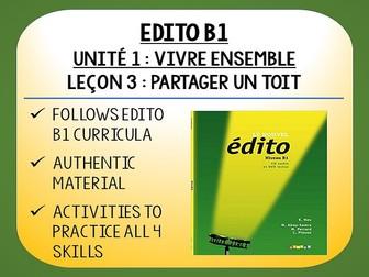 EDITO B1 - Unité 1 - Vivre Ensemble - L3