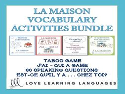 GCSE FRENCH: La Maison - Vocabulary Speaking Activities BUNDLE