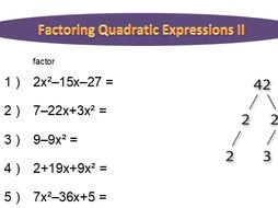 Factoring Quadratic Expressions Worksheet (long) by idoknowmath ...