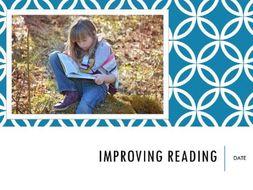 Improving Reading Staff Meeting - Primary, KS1, KS2, Reading Activities and Strategies