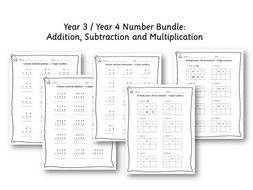 Lower KS2 - Year 3/ 4 Number bundle
