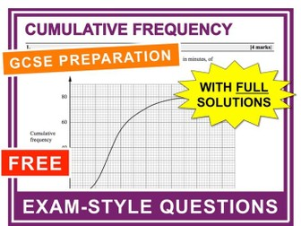 GCSE 9-1 Exam Question Practice (Cumulative Frequency)