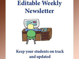 editable newsletters templates volume 5 by kitcelcorner teaching