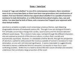 Jane Eyre Essay By Poetryessay  Teaching Resources  Tes Jane Eyre Essay