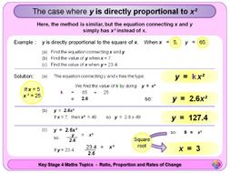 Proportion:  Direct and Inverse KS4