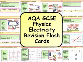 AQA KS4 GCSE Physics (Science) Electricity Revision Flashcards