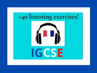 French IGCSE listening practice