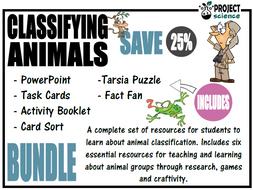 Classifying Animals Bundle