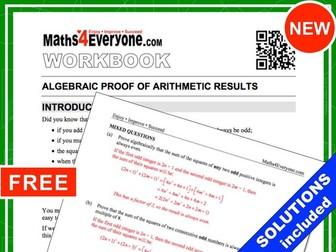 Algebraic Proof (Workbook with Solutions)