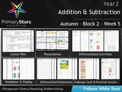 YEAR 2 - Addition Subtraction - White Rose - WEEK 5 - Block 2 - Autumn - Differentiated Resources