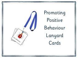 Promoting Positive Behaviour Lanyard Cards