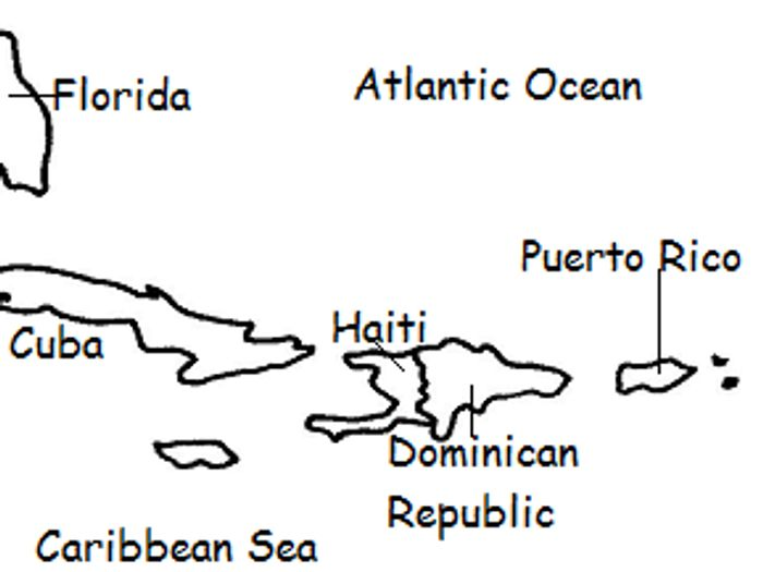 graphic regarding Printable Puerto Rican Flag named PUERTO RICO - Printable handout with map and flag