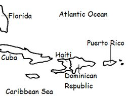 Map Of Florida Cuba And Puerto Rico.Puerto Rico Printable Handout With Map And Flag By Tspeelman