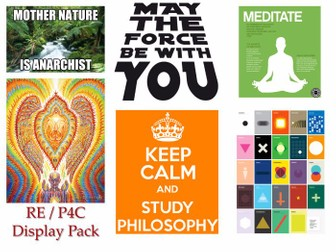 The Ultimate RE, Philosophy ( P4C) & Ethics - DISPLAY & POSTER PACK [Over 300 Files!]