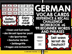 GERMAN VOCABULARY CARDS 6
