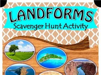 Landforms Scavenger Hunt Activity