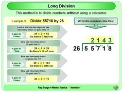 Long Division KS4