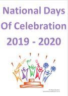 National Days Of Celebration - 2019 - 2020