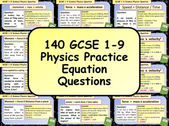 140 KS4 GCSE AQA Physics (Science) Equation Practice Questions