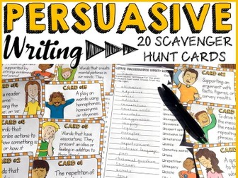 PERSUASIVE WRITING: TECHNIQUES SCAVENGER HUNT