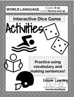 Activities Dice Game (any language!)