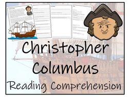 UKS2 History - Christopher Columbus  Reading Comprehension Activity