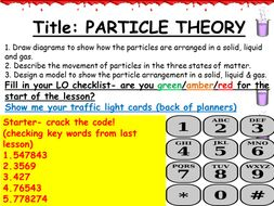 ks3 chemistry particle theory by rhurley88 teaching resources tes. Black Bedroom Furniture Sets. Home Design Ideas