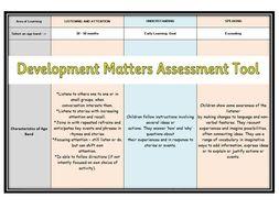 Development Matters Assessment Tool (EYFS)