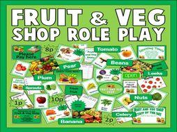 FRUIT & VEG ROLE PLAY SHOP TEACHING RESOURCES EYFS KS1 FOOD HEALTHY EATING