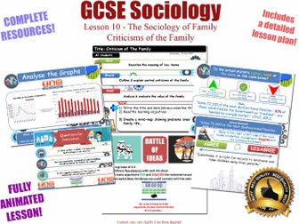 Criticisms of the Family - Sociology of Family - L10/20 [ AQA GCSE Sociology - 8192] Dysfunction KS4