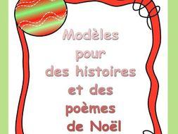 Christmas Templates--Modèles pour des histoires et des poèmes de Noël