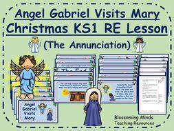 Christmas RE lesson - Angel Gabriel Visits Mary - KS1