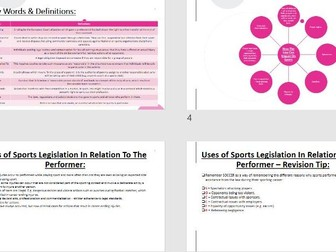 AQA A Level PE [A2 - 7582] - Sport & The Law