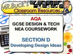 Ultimate Guide to AQA DT GCSE NEA Developing Design Ideas Section D Teacher's guide