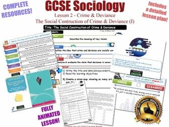 Social Construction of Crime & Deviance- Crime & Deviance L2/20 [ AQA GCSE Sociology - 8192] NEW KS4