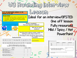 Y3 Rounding Interview Lesson - rated outstanding by Ofsted reasoning