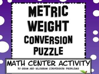 Measurement Metric Mass Conversion Math Center